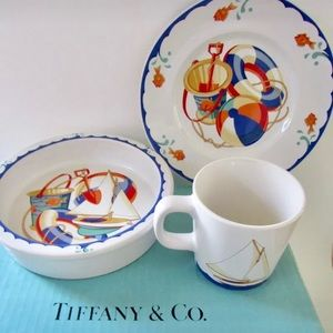 Tiffany & Co. 3 piece Bone China Nautical Set